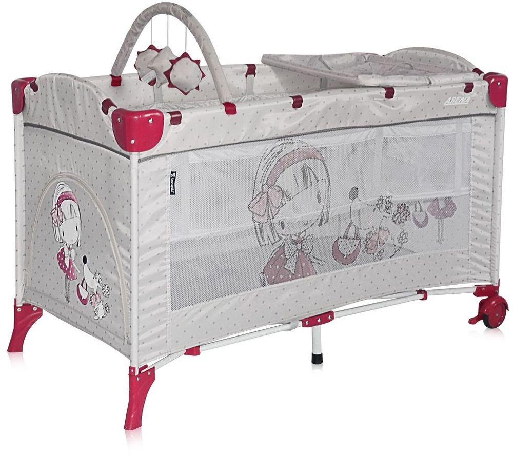 Lorelli Манеж-кроватка Arena 2 Plus цвет серый 3800151905592