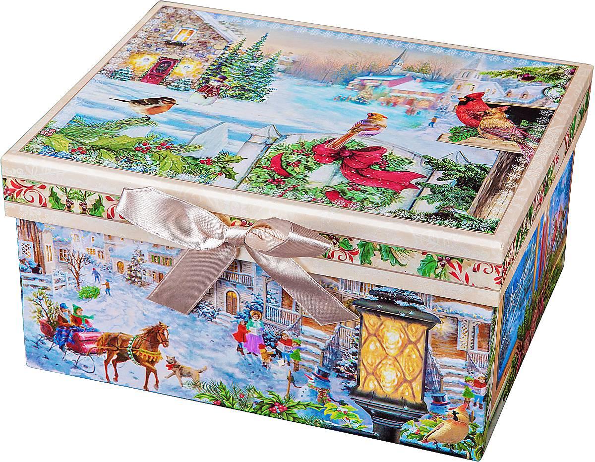 Коробка подарочная Mister Christmas, 23 х 16 х 12 смBR-B-RECTANGLE-E-1Картонная коробка Mister Christmas - это один из самых распространенных вариантов упаковки подарков. Любой, даже самый нестандартный подарок упакованный в такую коробку, создаст момент легкой интриги, а плотный картон сохранит содержимое в первоначальном виде. Оригинальный дизайн самой коробки будет долго напоминать владельцу о трогательных моментах получения подарка.