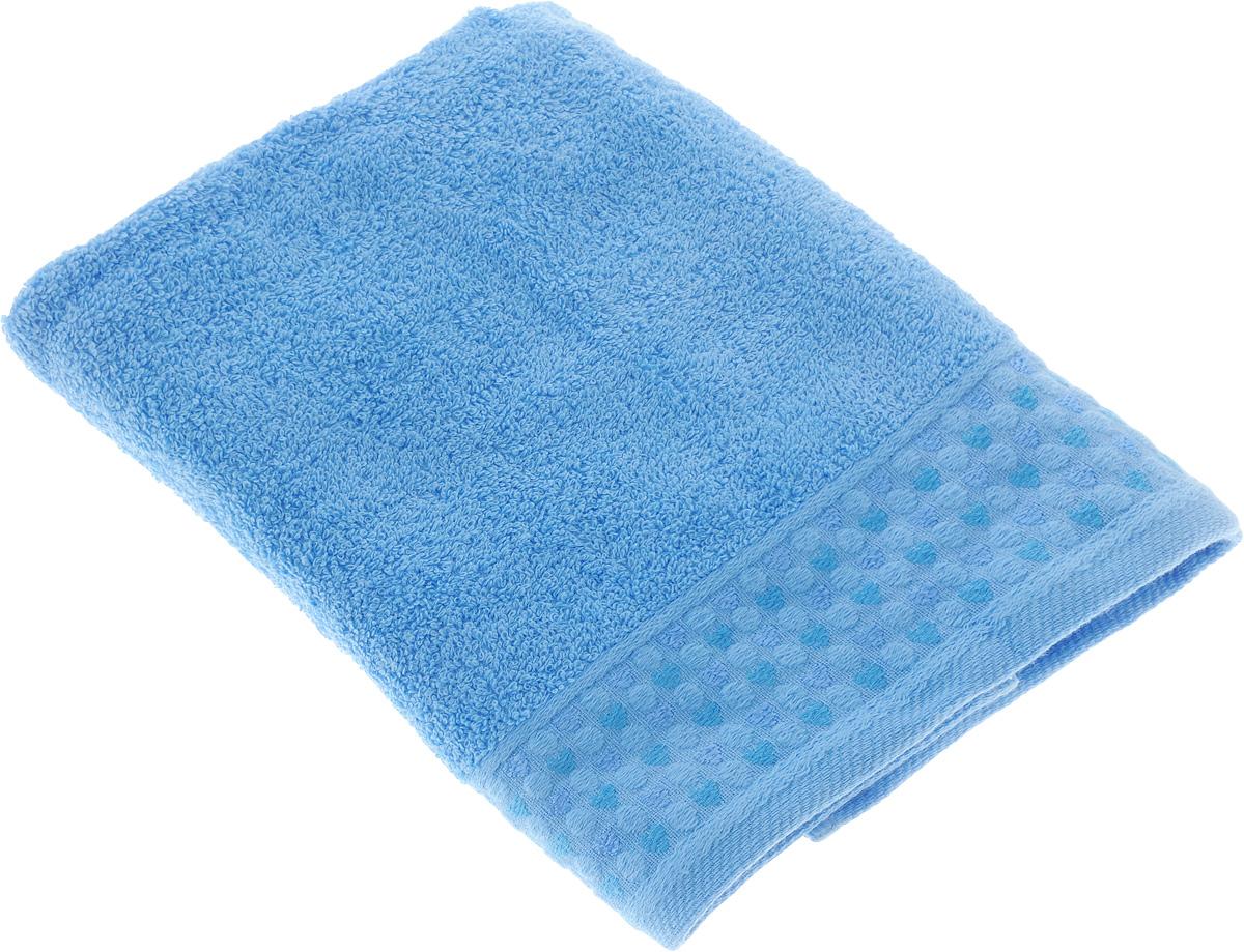Полотенце Tete-a-Tete Сердечки, цвет: голубой, 70 х 140 см. УП-008УП-008-03Махровое полотенце Tete-a-Tete Сердечки, изготовленное из натурального хлопка, подарит массу положительных эмоций и приятных ощущений. Полотенце отличается нежностью и мягкостью материала, утонченным дизайном и превосходным качеством. Линейка Сердечки декорирована бордюром с сердечками и горошком, полотенце выполнено в пастельном тоне. Полотенце прекрасно впитывает влагу, быстро сохнет и не теряет своих свойств после многократных стирок. Махровое полотенце Tete-a-Tete Сердечки станет прекрасным дополнением в дизайне ванной комнаты.