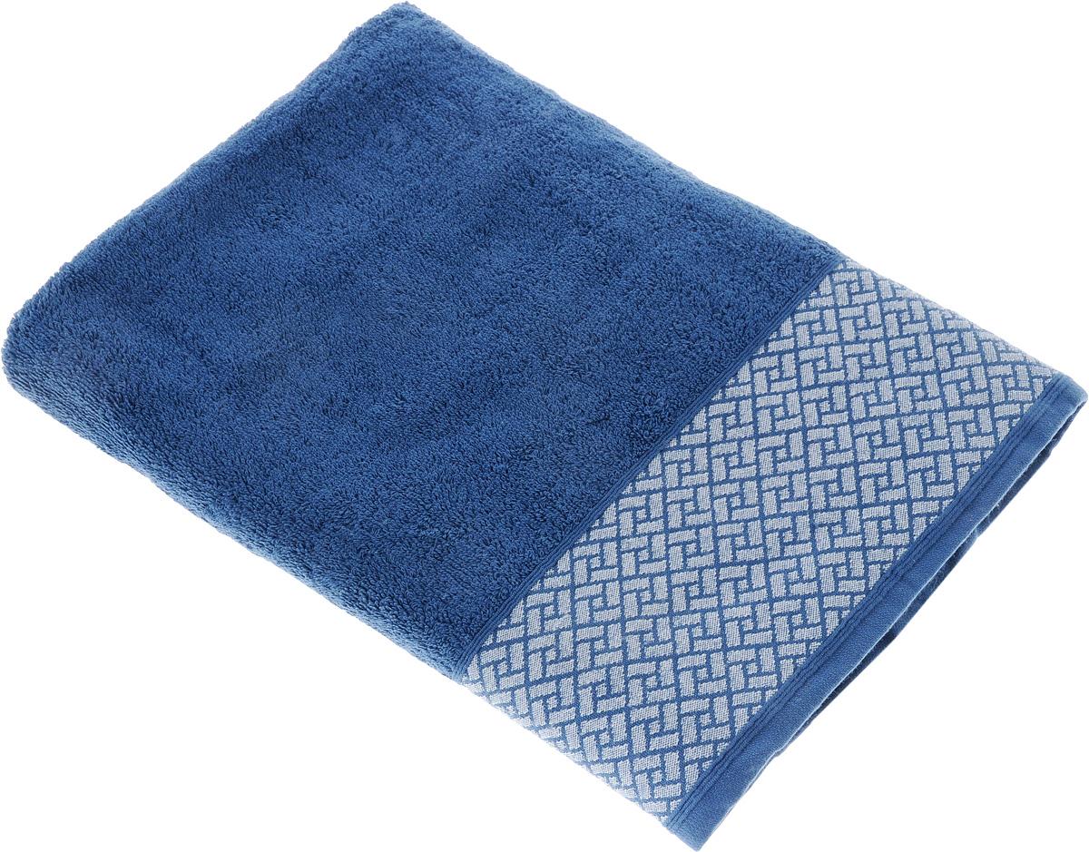 Полотенце Tete-a-Tete Лабиринт, цвет: синий, 70 х 140 см. УП-010УП-010-04Махровое полотенце Tete-a-Tete Лабиринт, изготовленное из натурального хлопка, подарит массу положительных эмоций и приятных ощущений. Полотенце отличается нежностью и мягкостью материала, утонченным дизайном и превосходным качеством. Данный дизайн был разработан, как мужская линейка, - строгие насыщенные цвета и геометрический рисунок на бордюре. Полотенце прекрасно впитывает влагу, быстро сохнет и не теряет своих свойств после многократных стирок. Махровое полотенце Tete-a-Tete Лабиринт станет прекрасным дополнением в дизайне ванной комнаты.