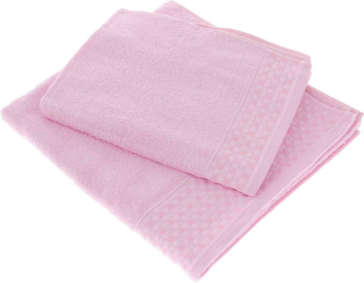"Набор полотенец Tete-a-Tete ""Сердечки"", цвет: розовый, 2 шт. УНП-104 УНП-104-04"