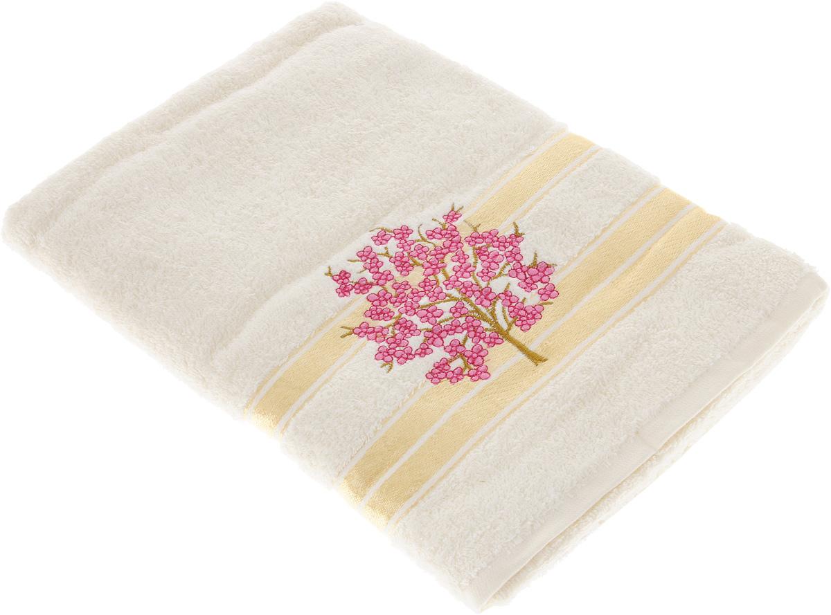 Полотенце Tete-a-Tete Сиреневое дерево, 50 х 90 см68/5/2Махровое полотенце Tete-a-Tete Сиреневое дерево, изготовленное из натурального хлопка, подарит массу положительных эмоций и приятных ощущений. Полотенце отличается нежностью и мягкостью материала, утонченным дизайном и превосходным качеством. Линейка Сиреневое дерево декорирована вышивкой веточки сакуры.Полотенце прекрасно впитывает влагу, быстро сохнет и не теряет своих свойств после многократных стирок. Махровое полотенце Tete-a-Tete Сиреневое дерево станет прекрасным дополнением в дизайне ванной комнаты.
