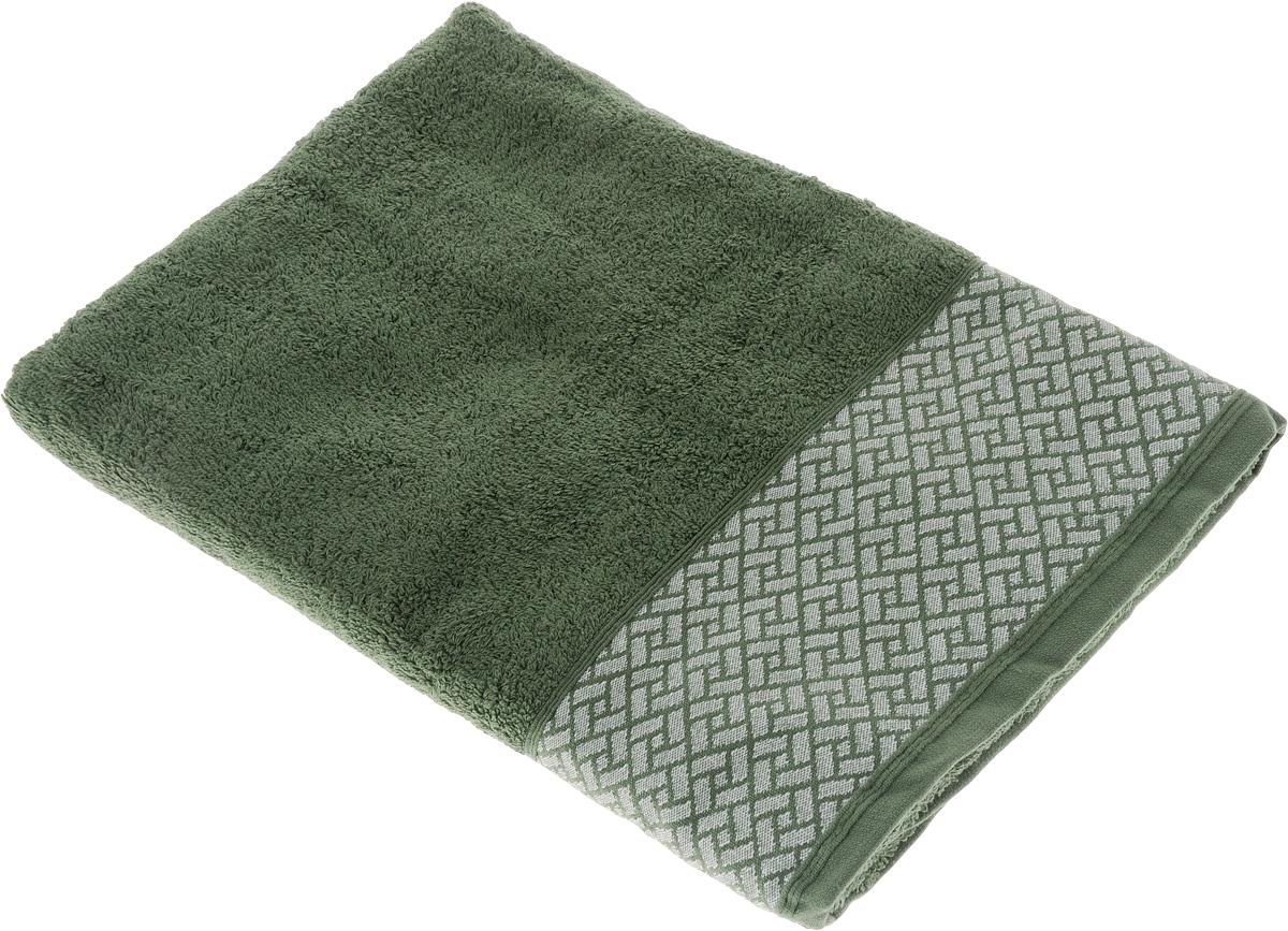 Полотенце Tete-a-Tete Лабиринт, цвет: зеленый, 70 х 140 см. УП-01068/5/2Махровое полотенце Tete-a-Tete Лабиринт, изготовленное из натурального хлопка, подарит массу положительных эмоций и приятных ощущений. Полотенце отличается нежностью и мягкостью материала, утонченным дизайном и превосходным качеством. Данный дизайн был разработан, как мужская линейка, - строгие насыщенные цвета и геометрический рисунок на бордюре.Полотенце прекрасно впитывает влагу, быстро сохнет и не теряет своих свойств после многократных стирок. Махровое полотенце Tete-a-Tete Лабиринт станет прекрасным дополнением в дизайне ванной комнаты.