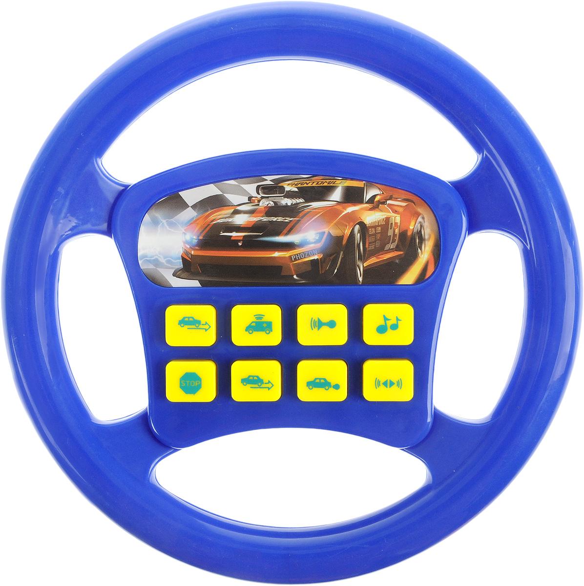 Играем вместе Игрушечный руль Машина цвет синий