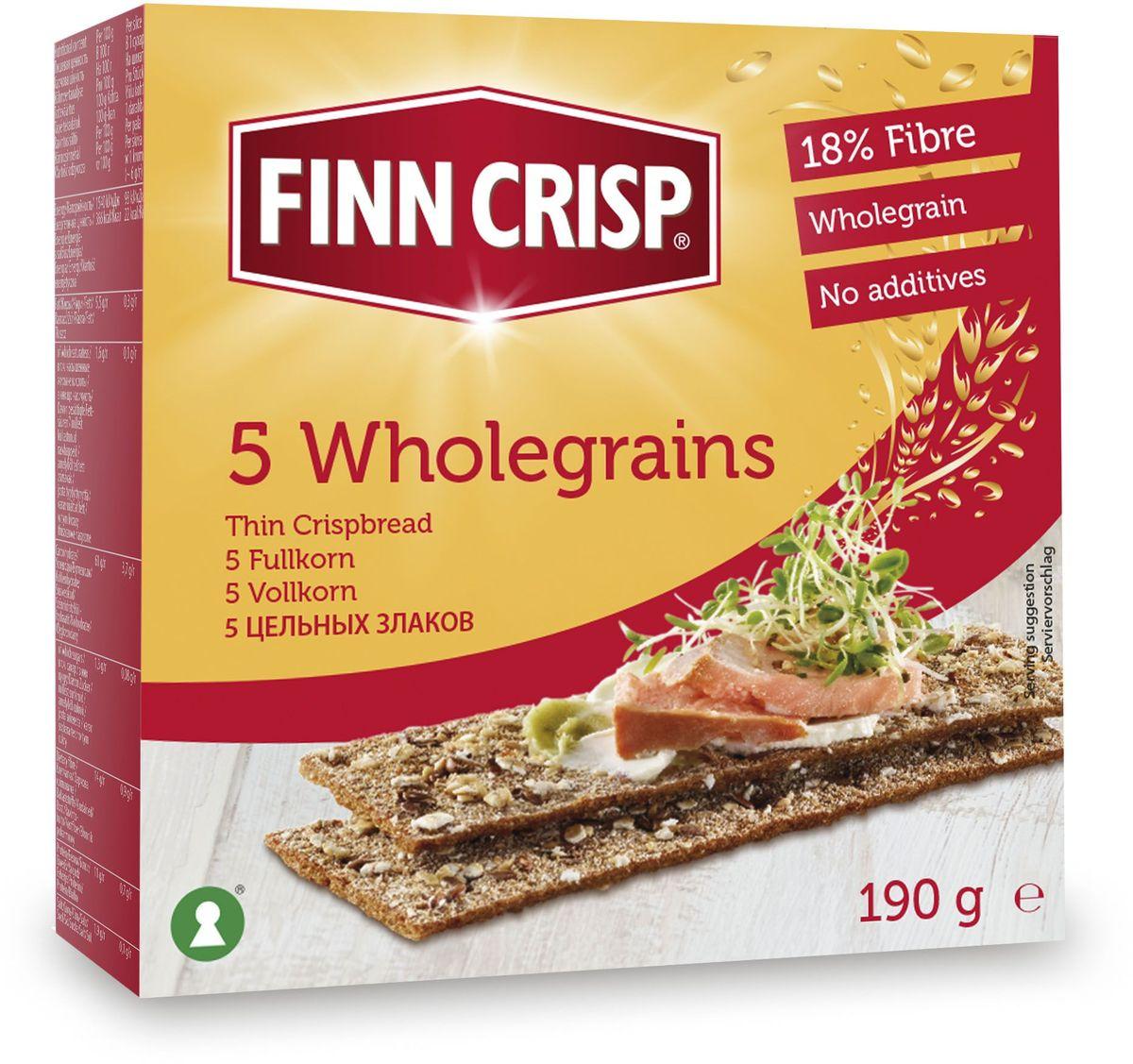 Finn Crisp 5 Wholegrain хлебцы 5 цельных злаков, 190 г20245В 1952 году началось производство сухариков FINN CRISP (ФИНН КРИСП), когда стартовали Олимпийские Игры в Хельсинки (Финляндия). Многие годы натуральные ржаные сухарики FINN CRISP отражают дух Финляндии для миллионов покупателей по всему миру, заботящихся о здоровом питании. Высушивать хлеб - давняя финская традиция и FINN CRISP до сих пор придерживаются этой традиции создавая хлебцы по старому классическому финскому рецепту. Бренд FINN CRISP принадлежит компании VAASAN Group's. VAASAN - это крупнейшая хлебопекарная компания в Балтийском регионе со столетней историей, занимающаяся производством продукции для правильного и здорового питания. Занимающая второе место по производству сухариков и хлебцев, а её продукция экспортируются в более чем 50 государств!
