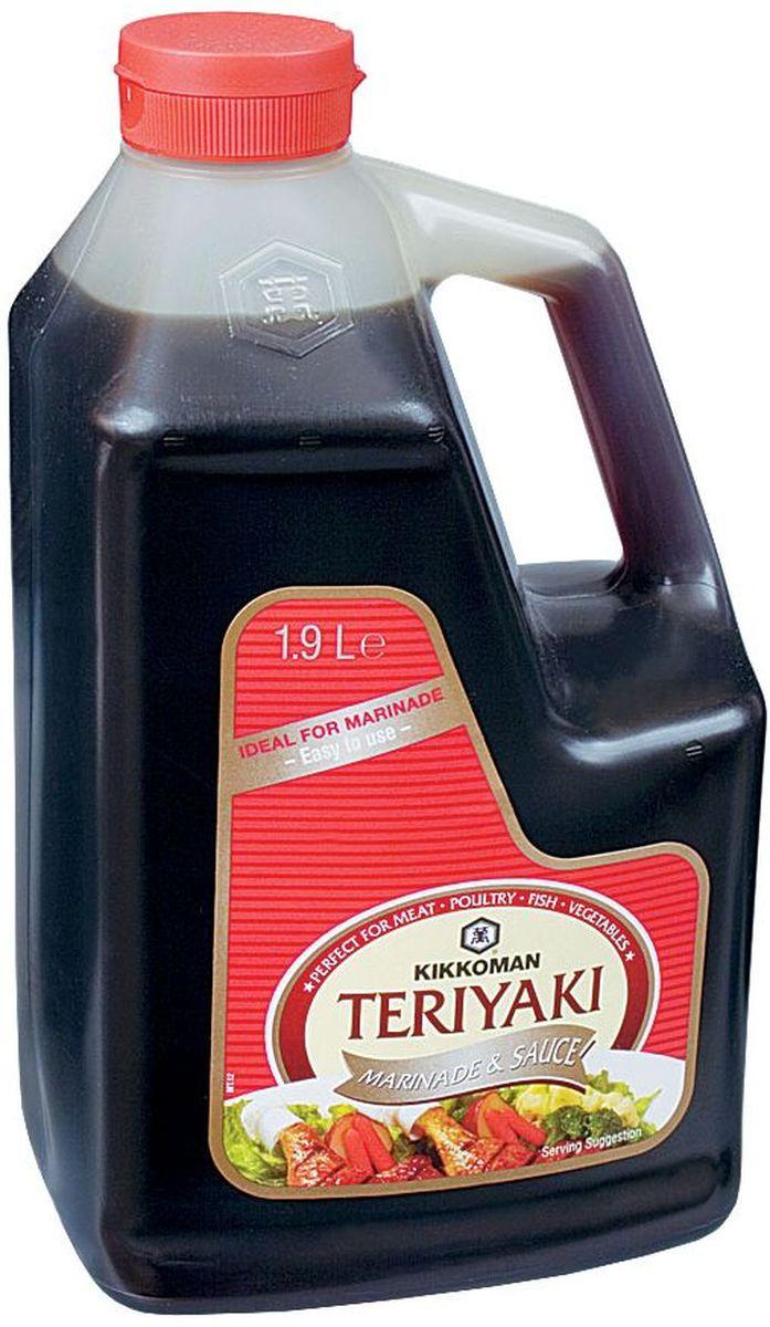Kikkoman соус-маринад Teriyaki, 1,9 л24237Классический продукт бренда Kikkoman (Киккоман) - натуральный соевый соус, который превосходно подходит как ингредиент, и как приправа для множества готовых блюд. Он идеально сочетается не только с деликатесами азиатской кухни, но и, например, со спагетти, американскими бюргерами или салатами. Соевый соус Kikkoman (Киккоман) изготавливается традиционным, классическим способом естественного брожения из сочетания 4 натуральных ингредиентов: соевых бобов, воды, пшеницы и соли. Натурально сваренный соевый соус Kikkoman прозрачный, имеет красновато-коричневый цвет и незабываемый, легко узнаваемый приятный вкус.