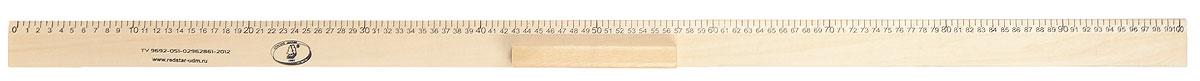 Красная звезда Линейка 100 смС363/362Линейка Красная звезда изготовлена из твердолиственных пород древесины, покрыта лаком и имеет износостойкую одностороннюю сантиметровую шкалу до 100 см. Цифры нанесены крупным шрифтом и не вызывают затруднений при чтении. Посередине линейки расположена ручка для удобства использования.