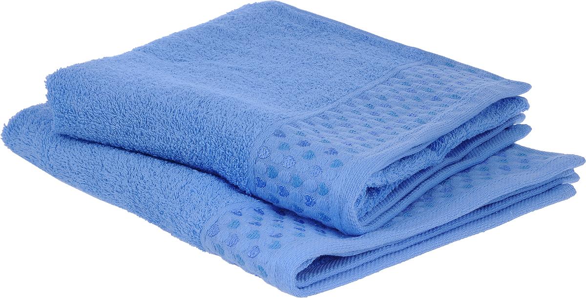 Набор полотенец Tete-a-Tete Сердечки, цвет: голубой, 50 х 90 см, 2 шт10503Набор Tete-a-Tete Сердечки состоит из двух махровых полотенец, выполненных из натурального 100% хлопка. Бордюр полотенец декорирован вышивкой в виде сердечек. Изделия мягкие, отлично впитывают влагу, быстро сохнут, сохраняют яркость цвета и не теряют форму даже после многократных стирок. Полотенца Tete-a-Tete Сердечки очень практичны и неприхотливы в уходе. Они легко впишутся в любой интерьер благодаря своей нежной цветовой гамме. Набор упакован в красивую коробку и может послужить отличной идеей подарка.