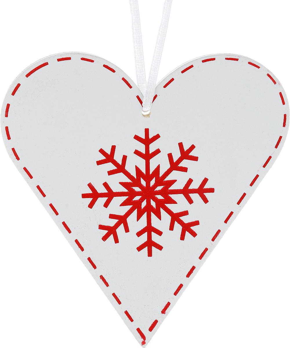 Украшение новогоднее подвесное Win Max Сердце со снежинкой, 11 х 12 см72821Новогоднее подвесное украшение Win Max Сердце со снежинкой выполнено из МДФ в виде сердца. С помощью специальной петельки украшение можно повесить в любом понравившемся вам месте. Но, конечно, удачнее всего оно будет смотреться на праздничной елке. Елочная игрушка - символ Нового года. Она несет в себе волшебство и красоту праздника. Создайте в своем доме атмосферу веселья и радости, украшая новогоднюю елку нарядными игрушками, которые будут из года в год накапливать теплоту воспоминаний.