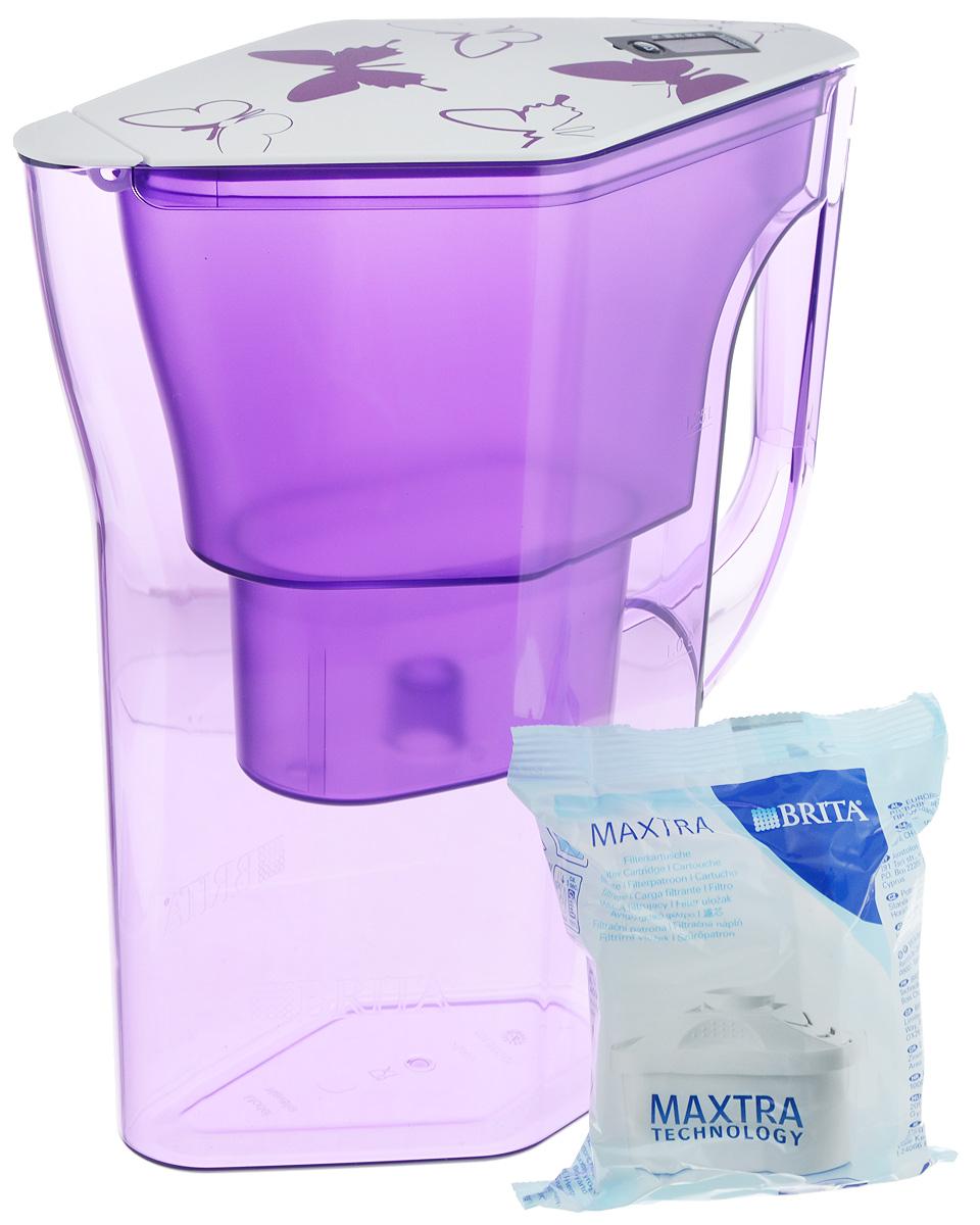 Фильтр-кувшин Brita Навелия, цвет: фиолетовый, 2,3 л4006387056001/1017319Фильтр-кувшин Brita Навелия, выполненный из пластика, станет необходимым помощником на вашей кухне. Вода, очищенная данным фильтром обладает рядом преимуществ: - улучшает вкус горячих и холодных напитков, - увеличивает срок службы бытовых приборов, препятствуя образованию накипи, - идеальна для приготовления вкусной и здоровой пищи, - придает более насыщенный вкус и аромат чаю и кофе. Технология фильтра Maxtra снижает содержание в воде таких веществ, как хлор, алюминий, тяжелые металлы (свинец и медь), некоторые пестициды и органические примеси. Также он отфильтровывает соли жесткости. Особенности данного фильтра: - только для Maxtra, - календарь: электронный индикатор ресурса кассеты будет автоматически напоминать вам о необходимости заменить кассету через каждые 4 недели использования, - эргономичный дизайн, - фильтр можно мыть в посудомоечной машине (за исключением крышки), ...