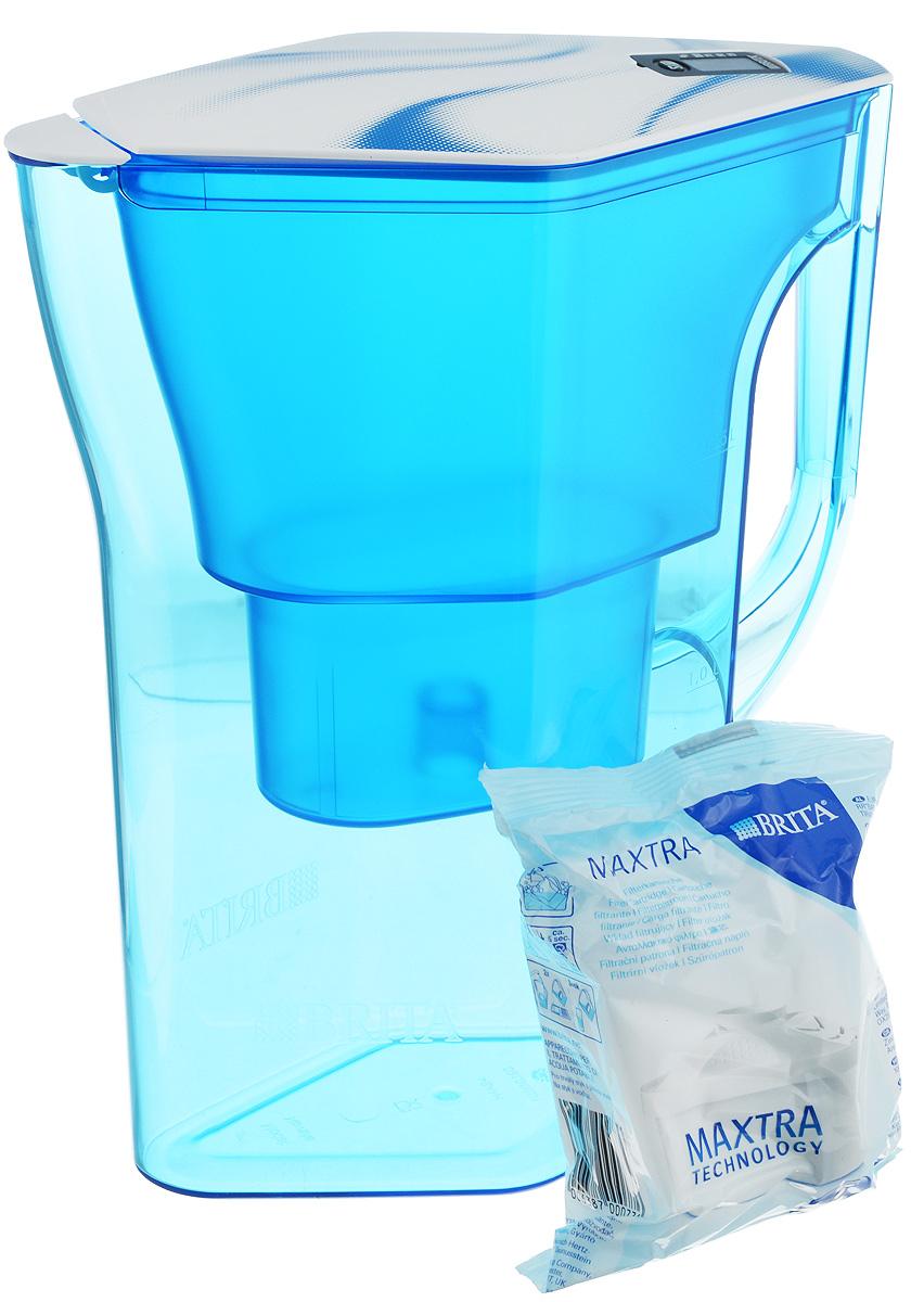 Фильтр-кувшин Brita Навелия, цвет: синий, 2,3 л4006387048105/1017321Фильтр-кувшин Brita Навелия, выполненный из пластика, станет необходимым помощником на вашей кухне. Вода, очищенная данным фильтром обладает рядом преимуществ: - улучшает вкус горячих и холодных напитков, - увеличивает срок службы бытовых приборов, препятствуя образованию накипи, - идеальна для приготовления вкусной и здоровой пищи, - придает более насыщенный вкус и аромат чаю и кофе. Технология фильтра Maxtra снижает содержание в воде таких веществ, как хлор, алюминий, тяжелые металлы (свинец и медь), некоторые пестициды и органические примеси. Также он отфильтровывает соли жесткости. Особенности данного фильтра: - только для Maxtra, - календарь: электронный индикатор ресурса кассеты будет автоматически напоминать вам о необходимости заменить кассету через каждые 4 недели использования, - эргономичный дизайн, - фильтр можно мыть в посудомоечной машине (за исключением крышки), ...