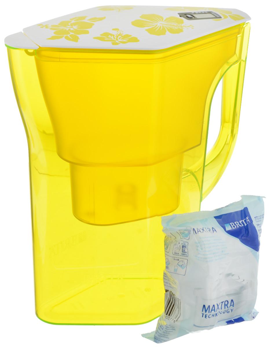 Фильтр-кувшин Brita Навелия, цвет: желтый, 2,3 л4006387056025/1017318Фильтр-кувшин Brita Навелия, выполненный из пластика, станет необходимым помощником на вашей кухне. Вода, очищенная данным фильтром обладает рядом преимуществ: - улучшает вкус горячих и холодных напитков, - увеличивает срок службы бытовых приборов, препятствуя образованию накипи, - идеальна для приготовления вкусной и здоровой пищи, - придает более насыщенный вкус и аромат чаю и кофе. Технология фильтра Maxtra снижает содержание в воде таких веществ, как хлор, алюминий, тяжелые металлы (свинец и медь), некоторые пестициды и органические примеси. Также он отфильтровывает соли жесткости. Особенности данного фильтра: - только для Maxtra, - календарь: электронный индикатор ресурса кассеты будет автоматически напоминать вам о необходимости заменить кассету через каждые 4 недели использования, - эргономичный дизайн, - фильтр можно мыть в посудомоечной машине (за исключением крышки), ...