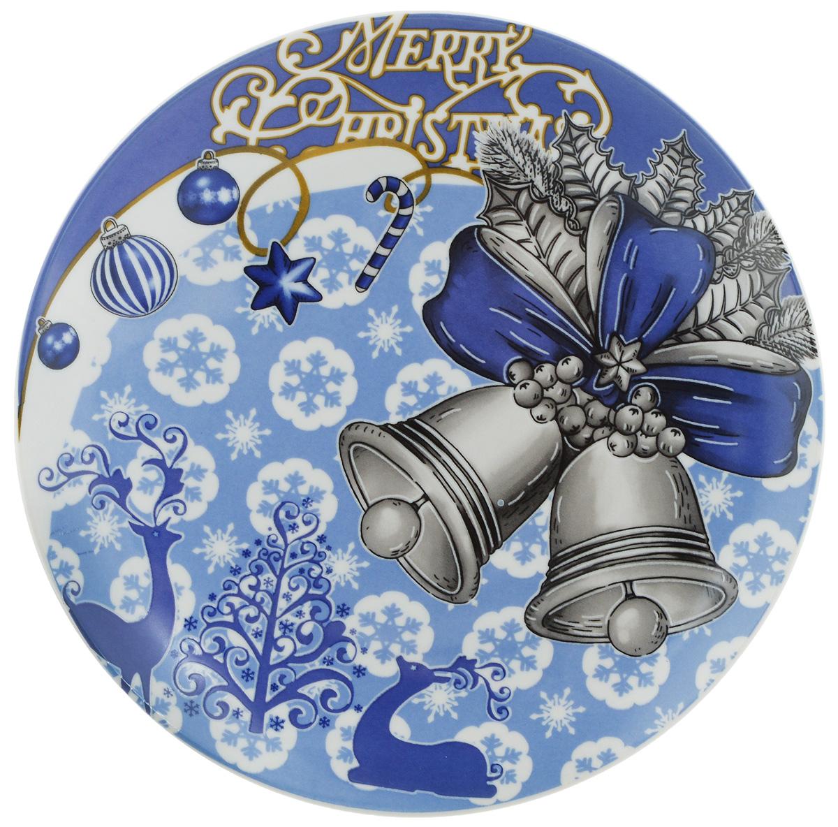 Тарелка Lillo Колокольчики, диаметр 20 см216055..Тарелка Lillo Колокольчики изготовлена из качественной керамики. Изделие декорировано красивым рисунком в виде двух колокольчиков и снежинок. Такая тарелка отлично подойдет в качестве блюда для сервировки закусок и нарезок, ее также можно использовать как обеденную. Тарелка Lillo Колокольчики будет потрясающе смотреться на новогоднем столе. Яркий запоминающийся дизайн и качество исполнения сделают ее отличным новогодним подарком. Не рекомендуется использовать в микроволновой печи и мыть в посудомоечной машине.