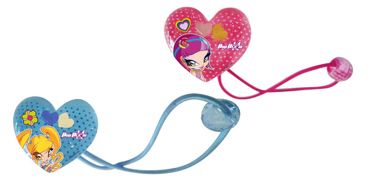 Резинка для волос PopPixie, цвет: розовый, голубой, 2 шт. 41319