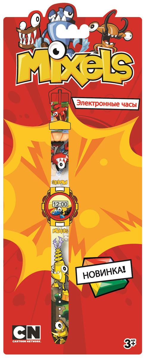Часы наручные детские Mixels, цвет: серый. MX34564MX34564Оригинальные электронные детские часы Mixels с корпусом и браслетом из пластика. Циферблат защищен от повреждений прочным пластиковым стеклом. Товар изготовлен полностью из пластмассы с питанием от химических источников тока, 1 сменный элемент включен в комплект (LR41 (AG3) 1.5 V).