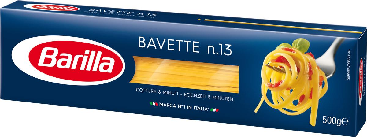 Barilla Bavette баветте паста, 500 г8076800195132Родина Баветте - Лигурия. И как Неаполь считается родоначальником самого известного формата пасты во всем мире - спагетти, так Генуя может гордиться изобретением Баветте - превосходной лигурийской длинной пасты. Традиционно она подается вместе с Песто Дженовезе, а так же отлично сочетается и с овощными или рыбными соусами. Баветте - один из длинных форматов пасты. Благодаря своей уникальной форме, она прекрасно удерживают соус на своей поверхности и позволяют ему раскрыть всю гамму вкусов и ароматов. Уважаемые клиенты! Обращаем ваше внимание на то, что упаковка может иметь несколько видов дизайна. Поставка осуществляется в зависимости от наличия на складе.