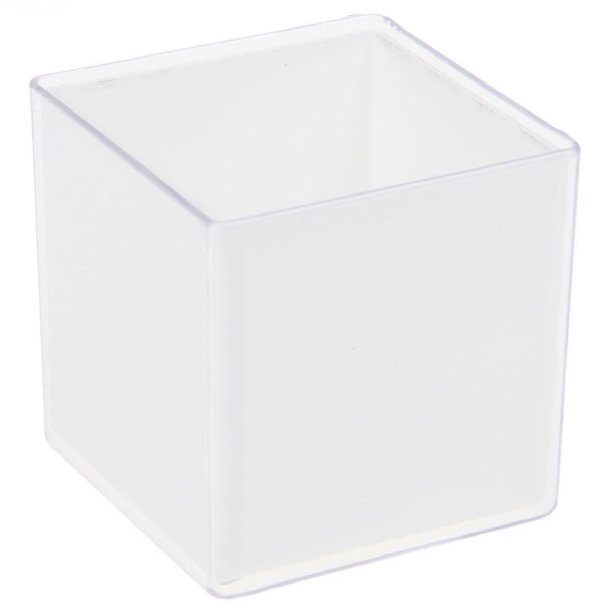 Кашпо JetPlast Мини куб, на магните, цвет: прозрачный, 6 x 6 x 6 см4612754050468Кашпо JetPlast Мини куб предназначено для украшения любого интерьера. Благодаря магнитной ленте, входящей в комплект, вы можете разместить его не только на подоконнике, столе или иной поверхности, а также на холодильнике и любой другой металлической поверхности, дополняя привычные вещи новыми дизайнерскими решениями. Кашпо можно использовать не только под цветы, но и как подставку для ручек, карандашей и прочих канцелярских мелочей. Размеры кашпо: 6 х 6 х 6 см.