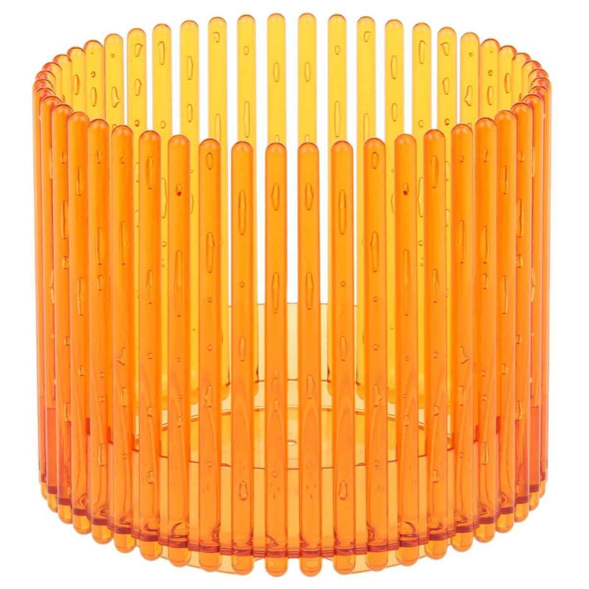 Кашпо JetPlast Шарм, цвет: желтый, 14 x 12 см4612754051083Кашпо Шарм изготовлено из поликарбоната. Изделие имеет уникальную конструкцию: бортик в нижней части кашпо дает возможность создания у корней орхидеи благоприятную влажность, а сквозная конструкция стенок кашпо дает возможность беспрепятственному проникновению света на корни растения и их вентиляцию. Стильный яркий дизайн сделает такое кашпо отличным дополнением интерьера.