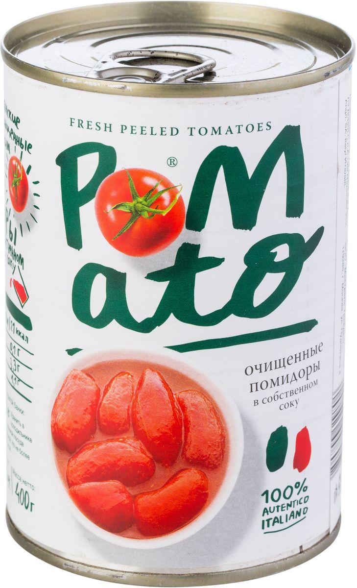 Pomato помидоры очищенные в собственном соку, 400 г13101Помидоры Pomato - сочные вкусные итальянские помидоры, выращенные под неаполитанским солнцем на вулканических почвах у подножия Везувия. Только отборные помидоры, бережно упакованные в течение нескольких часов после сбора.