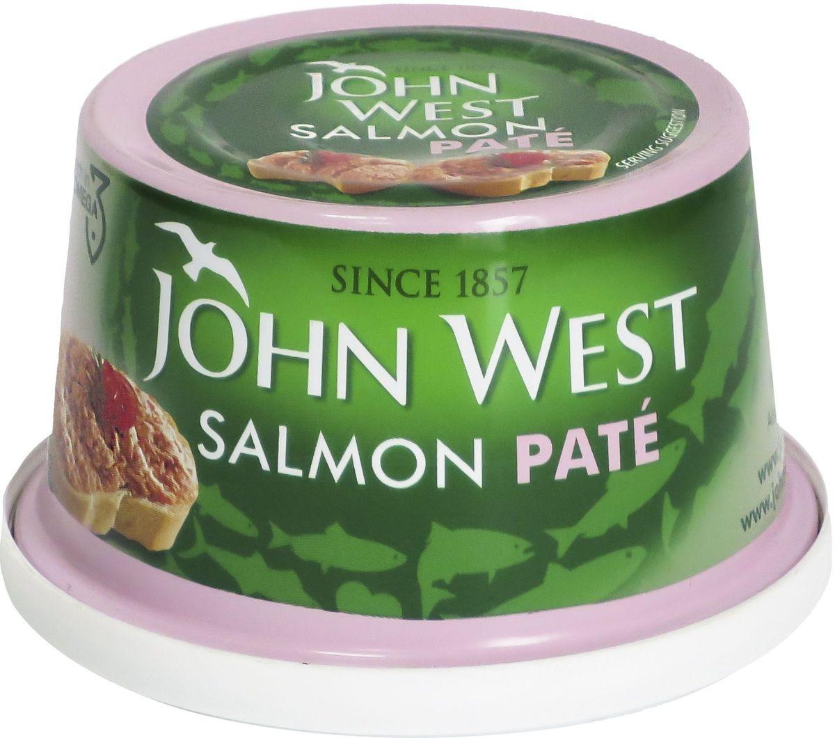 John West паштет из лосося, 125 г0120710Паштет из лосося с добавлением специй отличается деликатным вкусом.