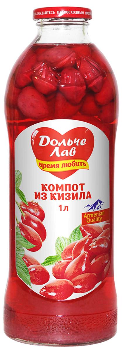Дольче Лав компот из кизила, 1 л0120710Компот Дольче изготовлен исключительно из натурального сырья, выращенного на территории Армении.