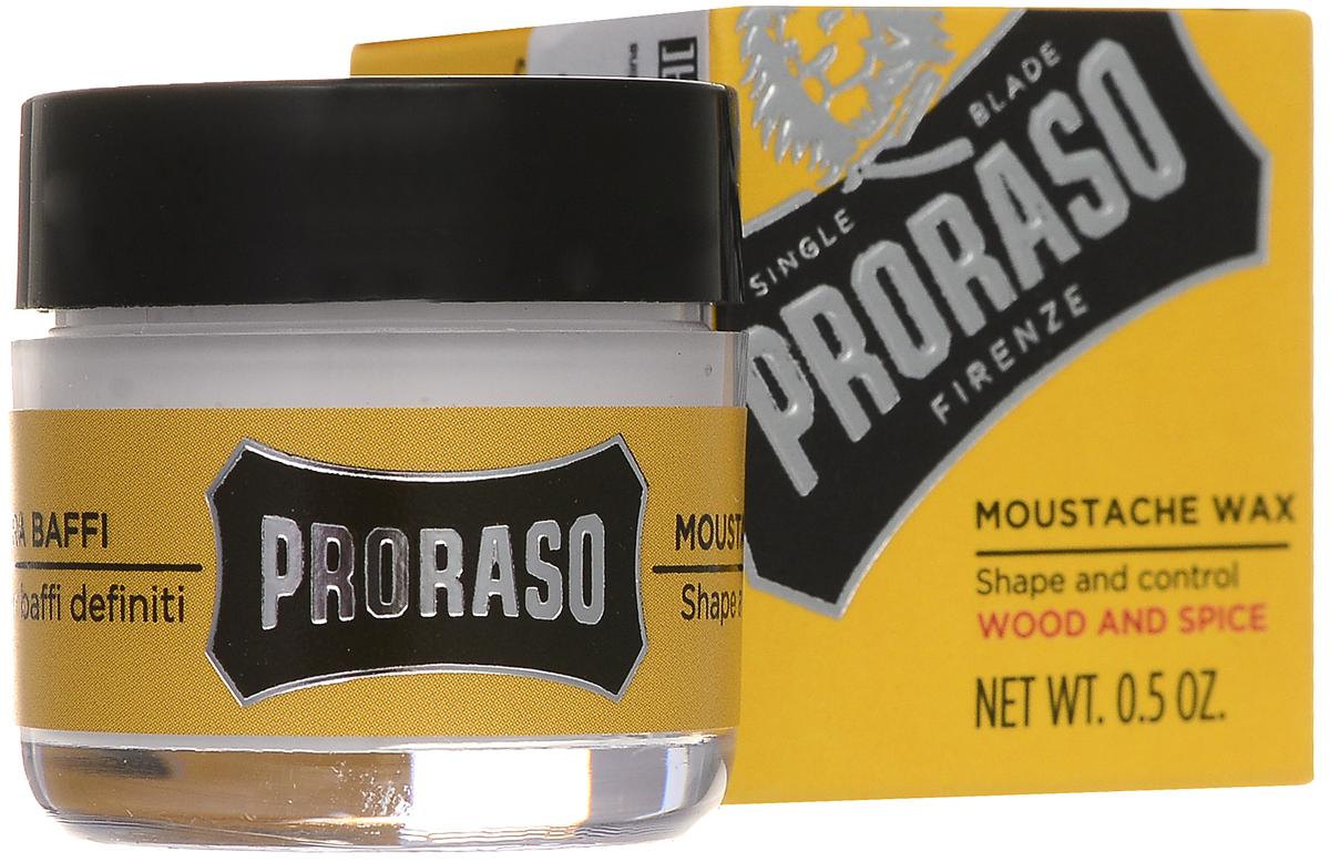 PRORASO Воск для усов Wood and Spice 15 мл400760Воск для усов: уложите усы, используя мягкий воск, придав им желаемую форму.