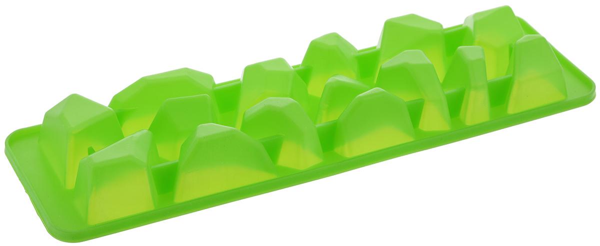 Форма для льда Paterra Айсберг, цвет: зеленый, 15 ячеек402-461_зеленыйФорма для льда Paterra Айсберг изготовлена из силикона. Ячейки формочки имеют оригинальный дизайн. Силикон - уникальный материал, недавно вошедший в обиход современной кулинарии и открывающий новые перспективы для творчества. Изделия из силикона характеризуются особой термостойкостью (выдерживают широчайший температурный диапазон от -40°С до +250°С), повышенной прочностью, эластичностью, инертностью к запахам. Формы из силикона идеальны для приготовления выпечки, льда, желе и многого другого.