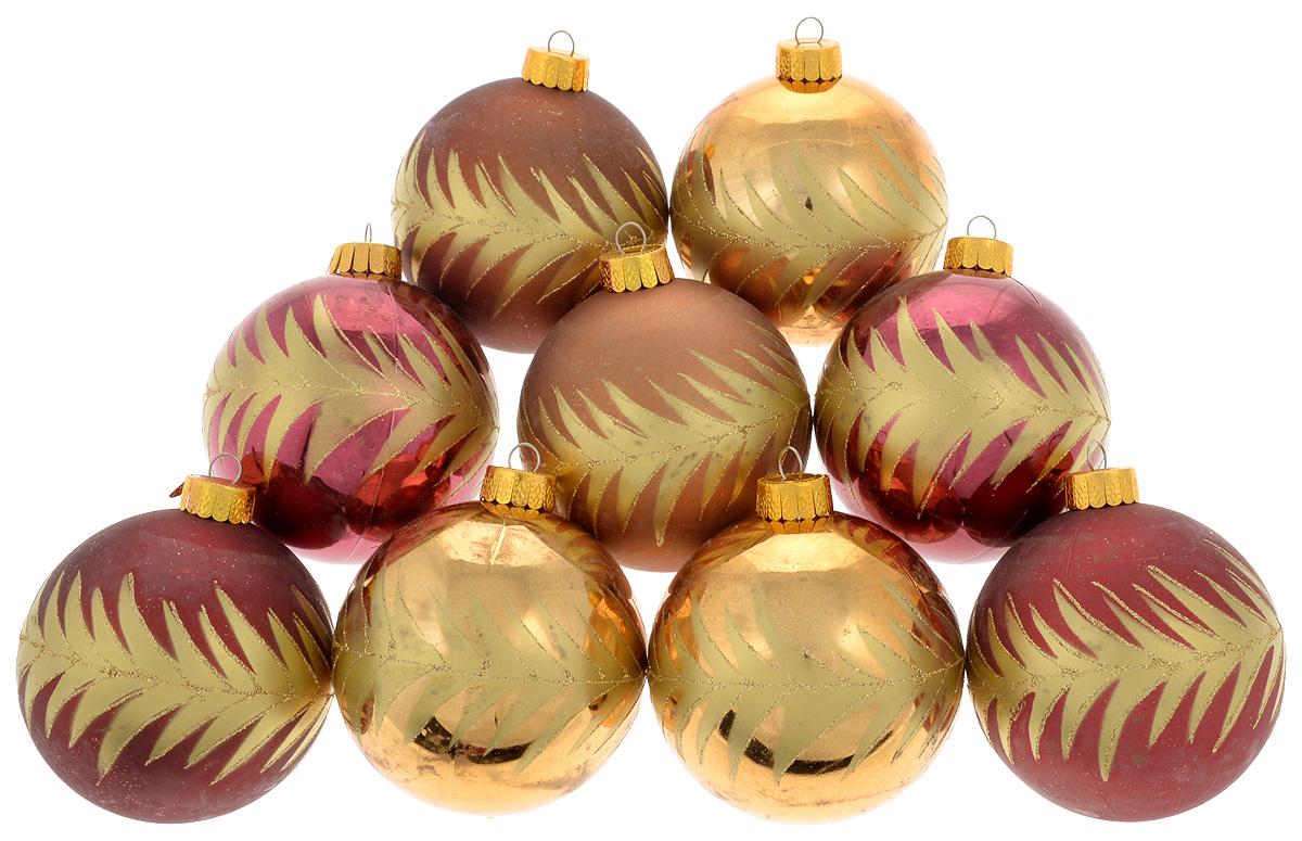 Набор новогодних подвесных украшений Christmas Time, 9 штNLED-444-7W-BKНабор подвесных украшений Christmas Time прекрасно подойдет для праздничного декора новогодней ели. Набор состоит из 9 украшений разных цветов в виде шаров. Изделия выполнены из пластика и декорированы блестками. Для удобного размещения на елке для каждого украшения предусмотрено ушко для петельки. Елочная игрушка - символ Нового года. Она несет в себе волшебство и красоту праздника. Создайте в своем доме атмосферу веселья и радости, украшая новогоднюю елку нарядными игрушками, которые будут из года в год накапливать теплоту воспоминаний. Откройте для себя удивительный мир сказок и грез. Почувствуйте волшебные минуты ожидания праздника, создайте новогоднее настроение вашим дорогим и близким.Диаметр украшения: 8 см.