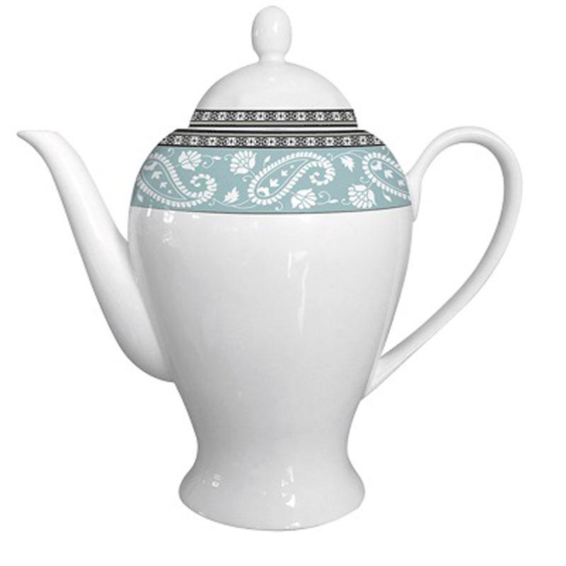 Чайник заварочный Esprado Arista Blue, 920 млARBL92BE306Заварочный чайник 920 мл из костяного фарфора. Упаковка: наклейка «Заварочный чайник 920 мл из костяного фарфора», штрих-код на дне. На дне изделия штамп: «Esprado Fine Bone Сhina» со знаками «использование в посудомоечной машине разрешено» и «использование в микроволновой печи разрешено». Внутренняя упаковка: подарочная цветная коробка, 1 штука в упаковке. Деколь как на эталонном образце.
