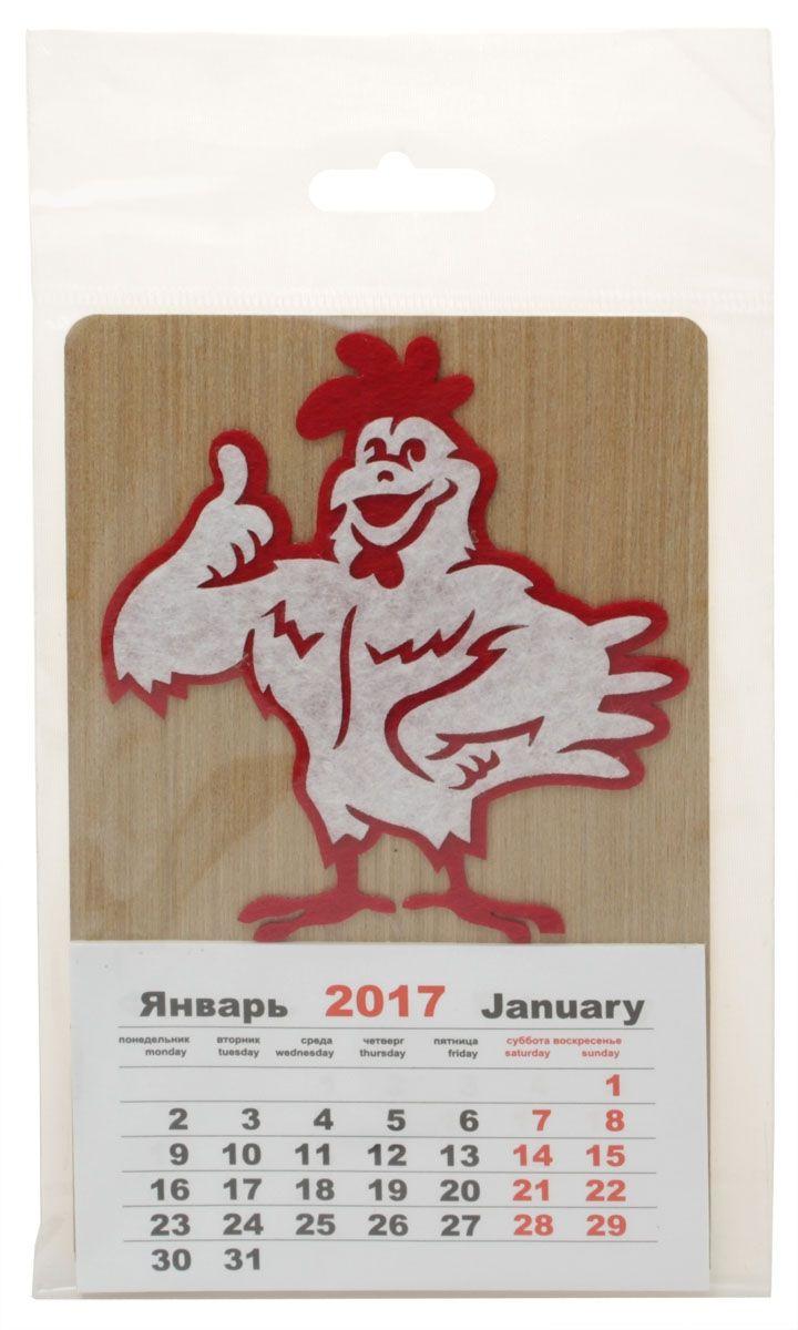 Календарь Караван-СТ Петух белый (2017 год)24143 0Габаритные размеры 85х145Материал Натуральный шпон Фетр
