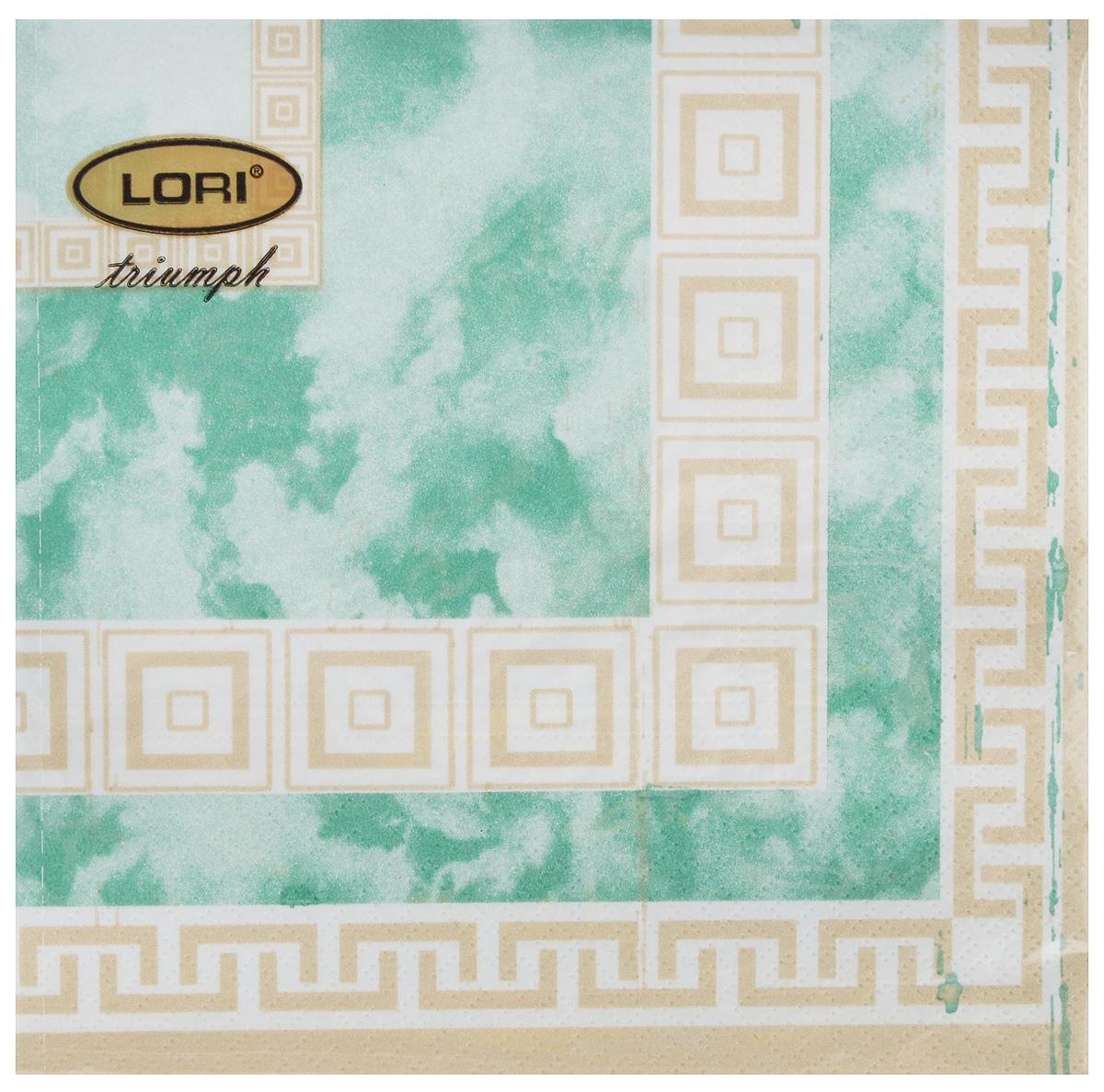 Салфетки бумажные Lori Triumph, трехслойные, цвет: зеленый, светло-коричневый, 33 х 33 см, 20 шт56135Декоративные трехслойные салфетки Lori Triumph выполнены из 100% целлюлозы и оформлены ярким рисунком. Изделия станут отличным дополнением любого праздничного стола. Они отличаются необычной мягкостью, прочностью и оригинальностью. Размер салфеток в развернутом виде: 33 х 33 см.