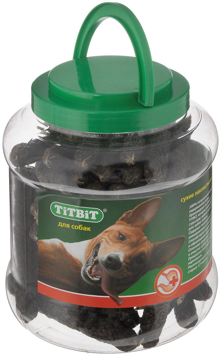 Лакомство для собак Titbit Колбаски, 4,3 л0120710Лакомство для собак Titbit Лакомый кусочек - это натуральный продукт, приготовленный из говяжьего мяса и мясных субпродуктов, который обязательно понравится вашему любимцу. Лакомство не только вкусное, но и полезное. Оно удаляет зубной налет, предотвращает образование зубного камня, массирует десны. Кроме того, улучшает пищеварение и перистальтику кишечника. Теперь собака будет грызть лакомство, а не вашу мебель и обувь. Товар сертифицирован.