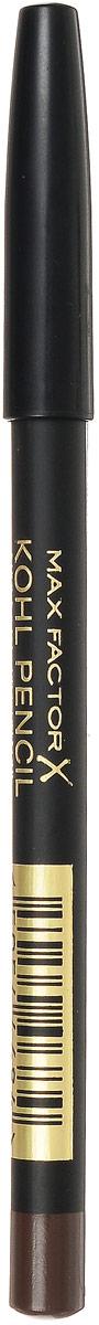 Max Factor Карандаш для глаз Kohl Pencil, тон №030 Brown, цвет: коричневый81480574Карандаш Kohl Pencil - твое секретное оружие для супер-сексуального взгляда. - Ультра-мягкий карандаш нежно касается века. - Достаточно плотный, чтобы рисовать тонкие линии. - Растушуй линию, чтобы добиться стильного неряшливого эффекта. Идеален для создания сексуального эффекта смоки айз. Протестировано офтальмологами и дерматологами. Подходит для чувствительных глаз и тех, кто носит контактные линзы. 1. Смотри вниз и осторожно растяни глаз указательным пальцем. 2. Проведи аккуратную мягкую линию вдоль роста ресниц. 3. Карандаша Kohl pencil в сочетании с тушью будет достаточно, чтобы выделить глаза. 4. Наноси карандаш над тенями для более мягкого образа или под тенями, чтобы углубить их цвет. 5. Растушуй линию с помощью ватной палочки для эффекта смоки айз.