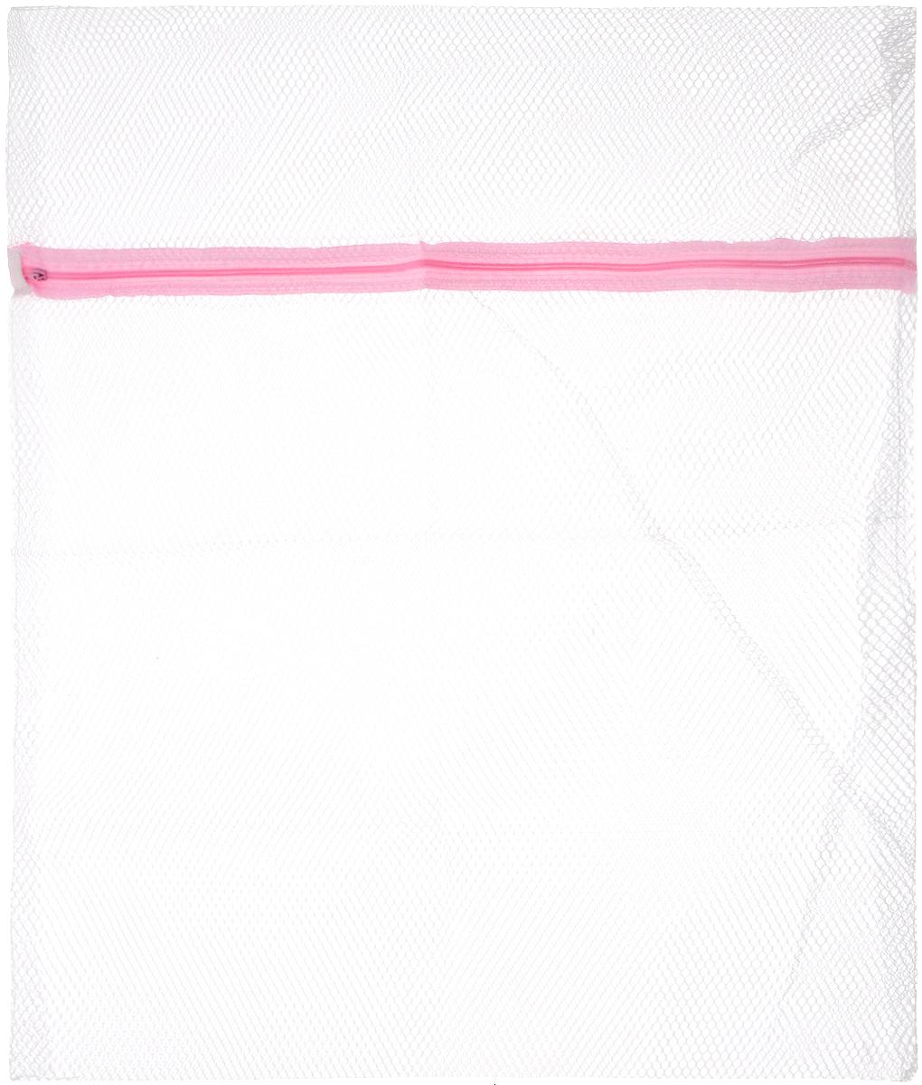 Мешок для стирки Bon, с застежкой, 56 х 50 смBN-402Мешок Bon предназначен для стирки вещей из деликатных тканей. Изготовлен из высококачественного материала. Имеет удобную и надежную застежку-молнию. Не окрашивает белье. Термостойкий мешок создан для бережной стирки, отжима, сушки деликатных и трикотажных изделий в стиральной машине. Предохраняет от зацепок и растягивания, исключает попадание мелких вещей и элементов одежды в механизм машины.