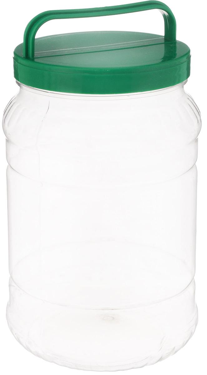 Бидон Альтернатива, цвет: прозрачный, темно-зеленый, 2 лМ461Бидон Альтернатива предназначен для хранения и переноски пищевых продуктов. Выполнен из пищевого высококачественного пластика. Оснащен ручкой для удобной переноски. Крышка плотно закручивается. Бидон Альтернатива станет незаменимым аксессуаром на вашей кухне. Высота бидона (без учета крышки): 20,5 см. Диаметр: 12,5 см.