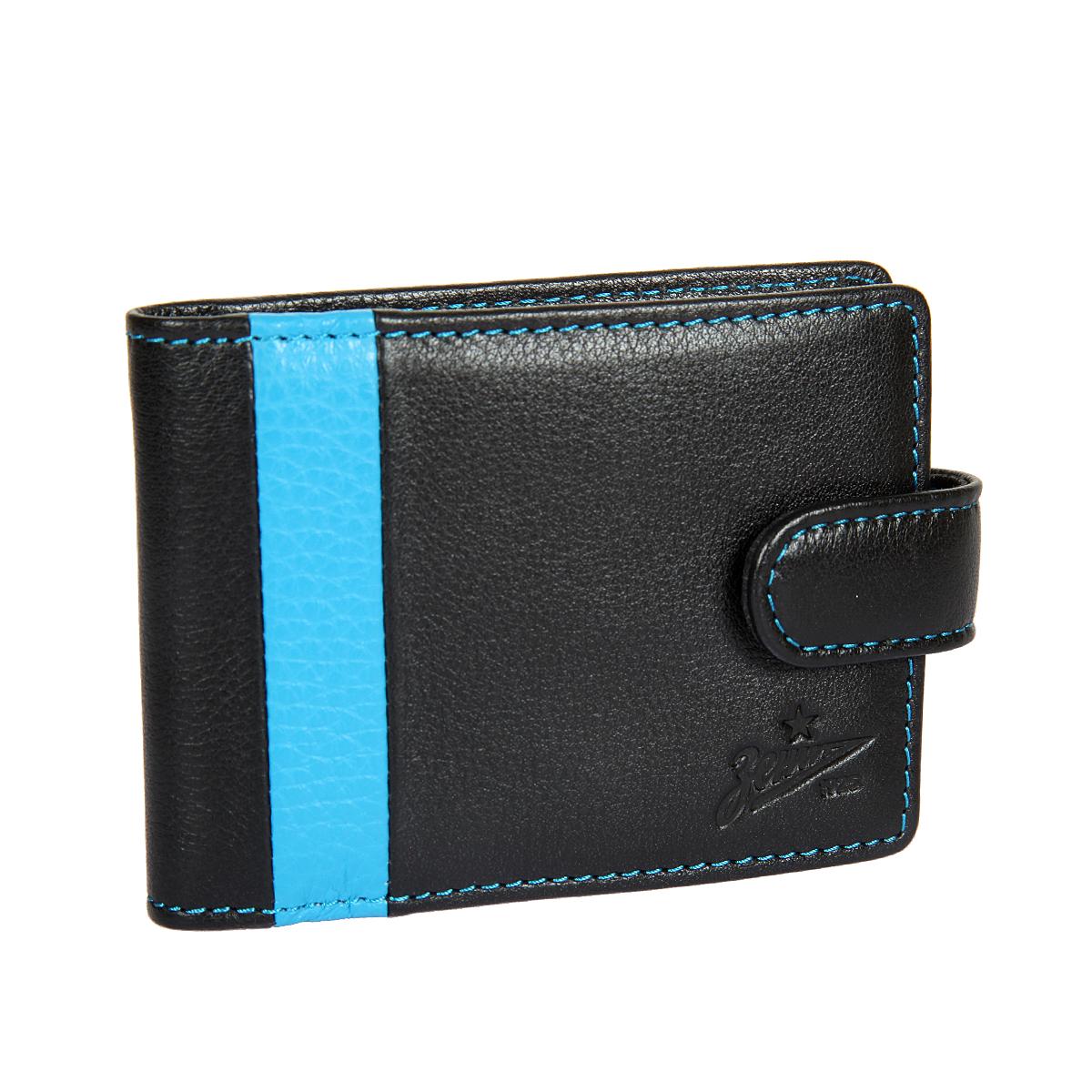 Визитница мужская Gianni Conti, цвет: черный. Z587470INT-06501Закрывается клапаном на кнопке, внутри блок прозрачных файлов для визиток 18 шт, два сетчатых кармашка.