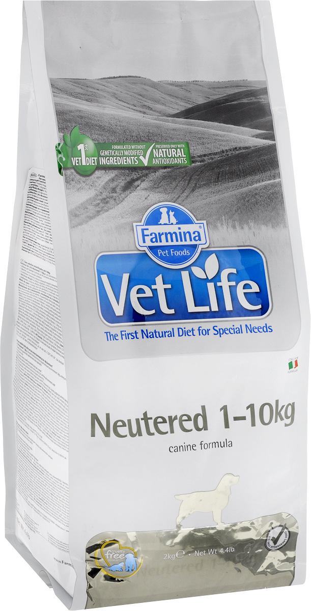 Корм сухой Farmina Vet Life для взрослых кастрированных или стерилизованных собак весом до 10 кг, диетический, 2 кг22455Корм сухой Farmina Vet Life - полноценное и сбалансированное питание для взрослых кастрированных или стерилизованных собак весом до 10 кг для контроля веса и профилактики развития мочекаменной болезни. Рацион с низким содержанием жира и высоким содержанием белка обеспечивает поддержание оптимальной массы тела. L-карнитин стимулирует окисление жиров и преобразование их в энергию. Низкое содержание углеводов снижает вероятность развития диабета. Сульфат кальция способствует контролю pH мочи и снижает риск развития мочекаменной болезни. Рекомендации по кормлению: использовать по назначению ветеринарного врача. Товар сертифицирован.