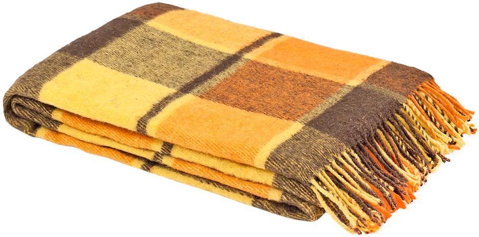 Плед Пиросмани, цвет: оранжевый, коричневый, 140 х 200 см 1-206-140_081-206-140_08Теплый и уютный плед уменьшенной плотности Пиросмани выполнен из натуральной новозеландской овечьей шерсти. Плед оформлен ярким рисунком в цветную клетку и по краям украшен кисточками. Под шерстяным пледом вам никогда не станет жарко или холодно, он помогает поддерживать постоянную температуру тела. Шерсть обладает прекрасной воздухопроницаемостью, она поглощает и нейтрализует вредные вещества и славится своими целебными свойствами. Плед из шерсти станет лучшим лекарством для людей, страдающих ревматизмом, радикулитом, головными и мышечными болями, сердечно-сосудистыми заболеваниями и нарушениями кровообращения. Шерсть не электризуется. Она прочна, износостойка, долговечна. Наконец, шерсть просто приятна на ощупь, ее мягкость и фактура вызывают потрясающие тактильные ощущения! Такой плед идеально подойдет для дачного отдыха: он очень пригодится, как только захочется укутаться, дыша вечерним воздухом, выручит, если приехали гости, и всегда под рукой, когда придет в голову...