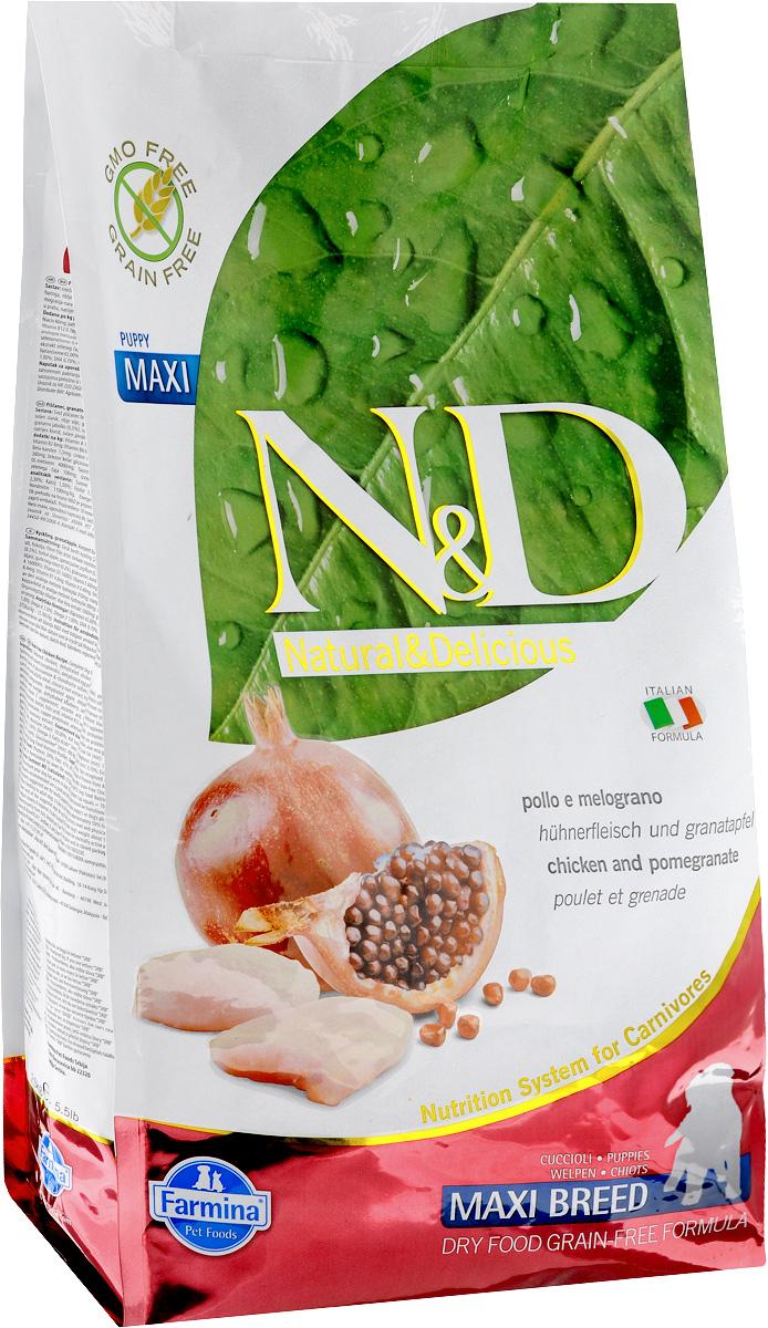 Корм сухой Farmina N&D для щенков крупных пород, беззерновой, с курицей и гранатом, 2,5 кг20109Сухой корм Farmina N&D является беззерновым и сбалансированным питанием для щенков крупных пород. Изделие имеет высокое содержание витаминов и питательных веществ. Сухой корм содержит натуральные компоненты, которые необходимы для полноценного и здорового питания домашних животных. Товар сертифицирован.