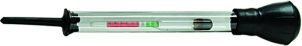 Ареометр для электролита Sparta549125Ареометр состоит из стеклянной колбы с поплавками различной степени плавучести. Предназначен для измерения плотности электролита в автомобильных аккумуляторах.