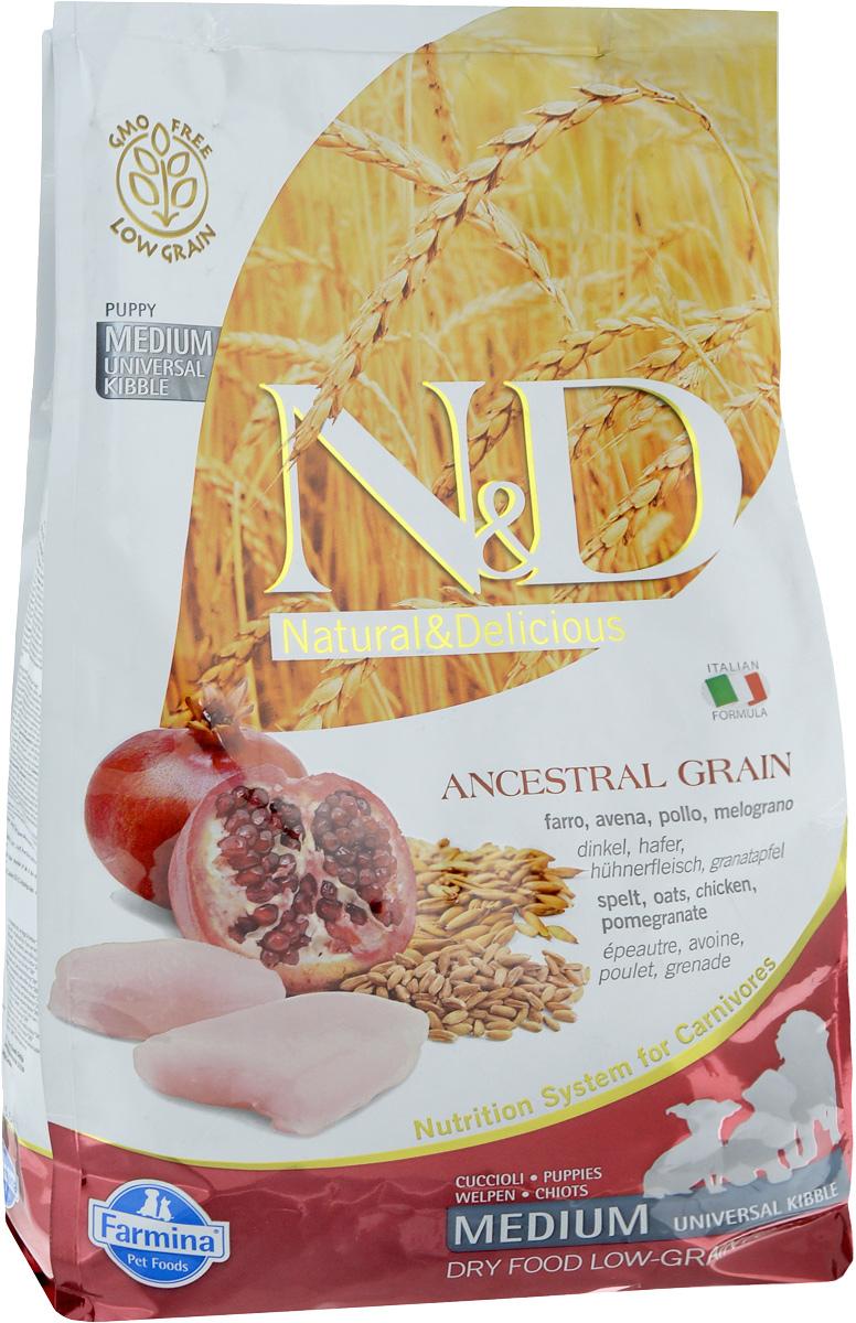 Корм сухой Farmina N&D для щенков всех пород собак, беременных и кормящих собак, низкозерновой, с курицей и гранатом, 2,5 кг21892Сухой корм Farmina N&D является низкозерновым и сбалансированным питанием для щенков всех пород, также подходит для беременных и кормящих собак. Изделие имеет высокое содержание витаминов и питательных веществ. Сухой корм содержит натуральные компоненты, которые необходимы для полноценного и здорового питания домашних животных. Товар сертифицирован.
