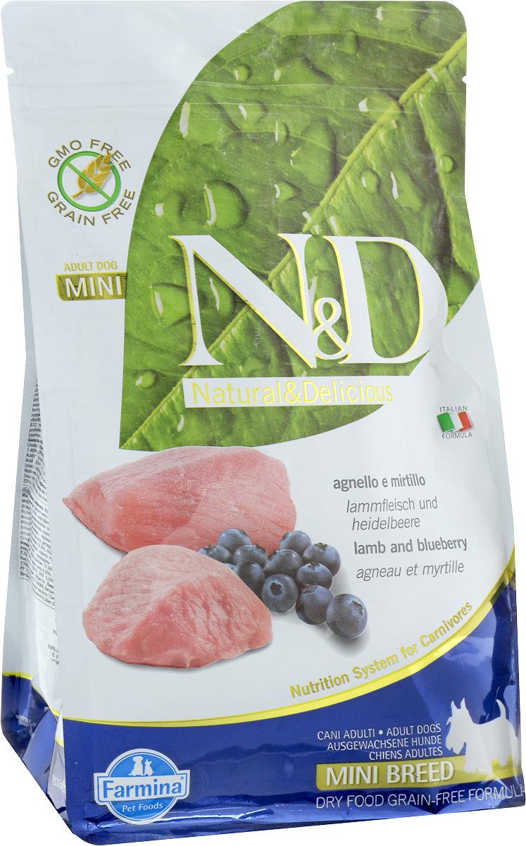Корм сухой Farmina N&D для собак мелких пород, беззерновой, с ягненком и черникой, 800 г0120710Сухой корм Farmina N&D является беззерновой и сбалансированным питанием для собак мелких пород, также подходит для беременных и кормящих собак. Изделие имеет высокое содержание витаминов и питательных веществ. Сухой корм содержит натуральные компоненты, которые необходимы для полноценного и здорового питания домашних животных.Товар сертифицирован.