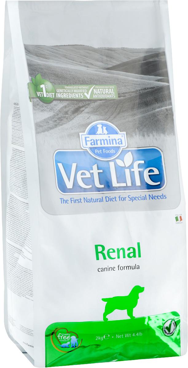 """Корм сухой Farmina """"Vet Life"""" для собак, диетический, для поддержания функции почек, в случаях почечной недостаточности, 2 кг 25241"""