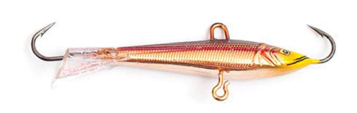 Балансир Asseri, цвет: красный, золотой, желтый, длина 5 см, вес 5 г. 513-05003513-05003Балансир Asseri - это приманка, предназначенная для ловли в отвес. Основным и самым важным отличием балансиров от зимних блесен является способность играть в горизонтальной плоскости. Такая игра имитирует естественные движения мелкой рыбы, которые меньше настораживают хищника. С каждым годом приманки заслуженно занимают место в арсенале любителей зимней ловли хищника. Качественный и стильный балансир Asseri изготовлен по последним новейшим технологиям.