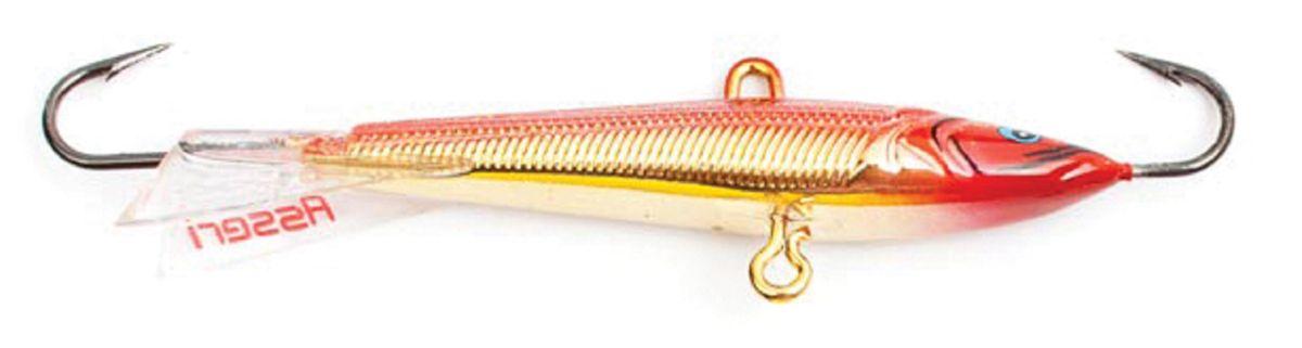Балансир Asseri, цвет: красный, золотой, длина 5 см, вес 5 г. 513-05004513-05004Балансир Asseri - это приманка, предназначенная для ловли в отвес. Основным и самым важным отличием балансиров от зимних блесен является способность играть в горизонтальной плоскости. Такая игра имитирует естественные движения мелкой рыбы, которые меньше настораживают хищника. С каждым годом приманки заслуженно занимают место в арсенале любителей зимней ловли хищника. Качественный и стильный балансир Asseri изготовлен по последним новейшим технологиям.