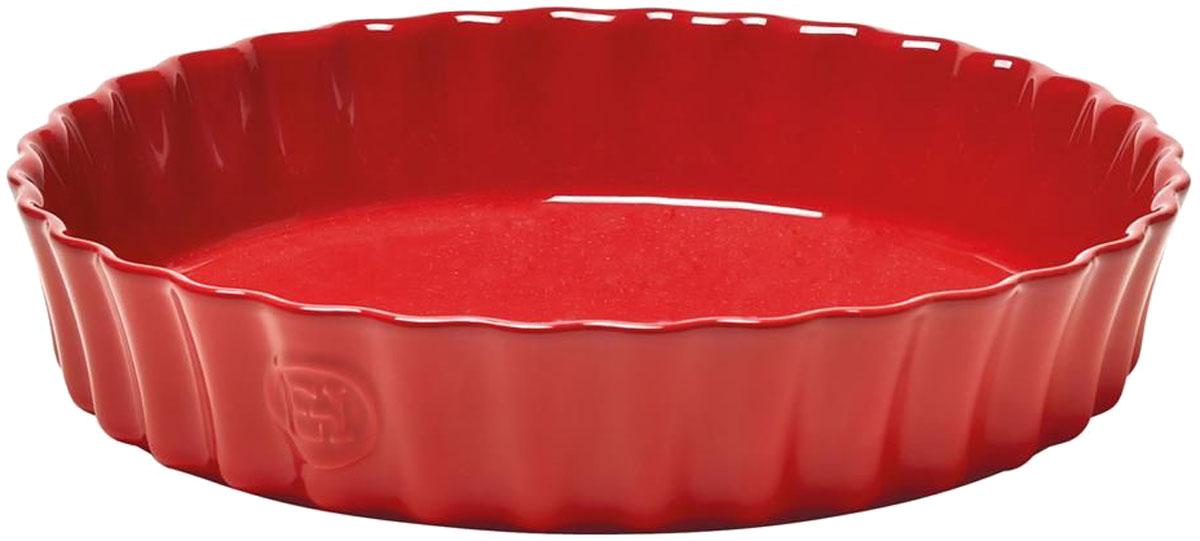 Форма для выпечки Emile Henry Киш II, цвет: гранат346028Только для приготовления в духовке. Специальная форма 28 см Emile Henry для киша или клафути. Клафути - особый французский десерт, нежно тающий во рту, должен готовиться медленно и пропекаться равномерно. Эта керамическая форма незаменима для его приготовления. А порционный размер формы, прекрасно сохраняющий температуру, удобен для подачи блюда прямо на стол.