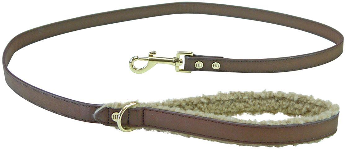 Поводок для собак Happy House Fur, цвет: коричневый, длина 125 см6225Поводок для собак Happy House Fur изготовлен из кожи, снабжен металлическим карабином, с обратной стороны ручки, для дополнительного комфорта, пришита плюшевая ткань. Изделие отличается не только исключительной надежностью и удобством, но и привлекательным дизайном. Он идеально подойдет для активных собак, для прогулок на природе и охоты. Поводок - необходимый аксессуар для собаки. Ведь в опасных ситуациях именно он способен спасти жизнь вашему любимому питомцу. Длина поводка: 125 см.