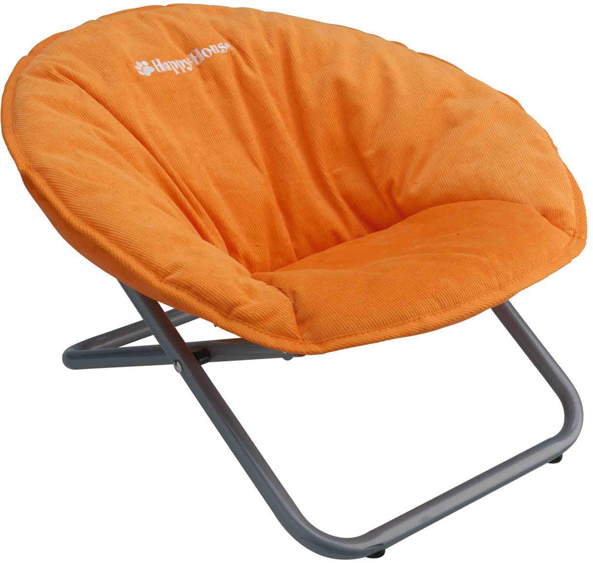 Стул для животных Happy House New Classic, цвет: оранжевый, 55 х 51 х 36 см0120710Стул для животных Happy House New Classic - прекрасный большой стул для кошки или собаки. Стул имеет металлический каркас и сиденье, выполненное из мягкого вельвета с наполнителем из полиэстера. Сиденье легко снимается с каркаса. Его можно стирать при температуре 30°С. Максимальная вместимость стула - 15 кг.На таком стуле вашему любимцу будет мягко и тепло. Он подарит вашему питомцу ощущение уюта и уединенности.