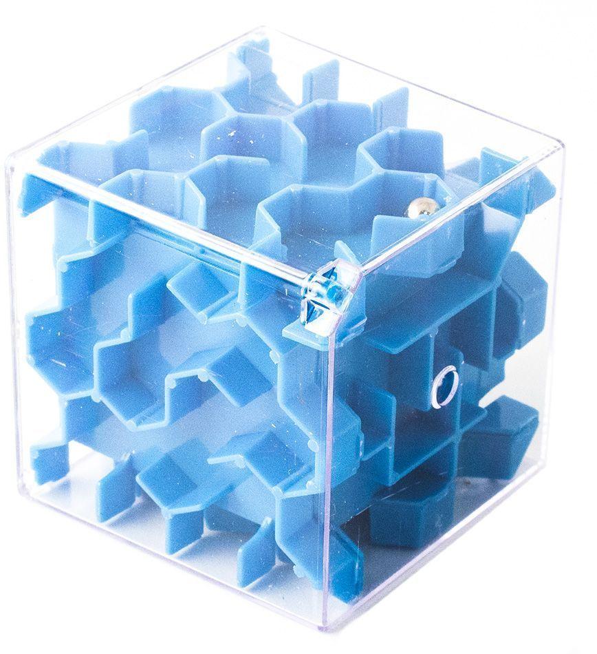 Копилка-головоломка Эврика Лабиринт, цвет: синий97474Копилка Лабиринт - это самая настоящая головоломка. Она изготовлена из высококачественного пластика. Чтобы достать накопленные денежки, необходимо провести шарик по запутанному пути. Копилка Лабиринт - оригинальный способ преподнести подарок. Положите купюру в копилку и смело вручайте имениннику. Вашему другу придется потрудиться, чтобы достать подаренную купюру. Копилка имеет отверстие, чтобы класть в неё деньги. Размер копилки: 6,5 х 6,5 х 6,5 см.