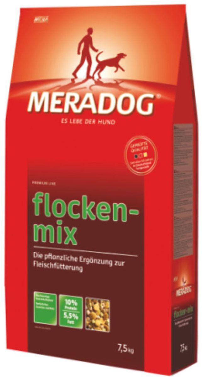 Корм сухой Meradog Flockenmix, для взрослых собак, дополнительный рацион к мясному корму, 7,5 кг52541Дополнительная рацион к мясному корму для взрослых собак. Растительная добавка к натуральному мясу